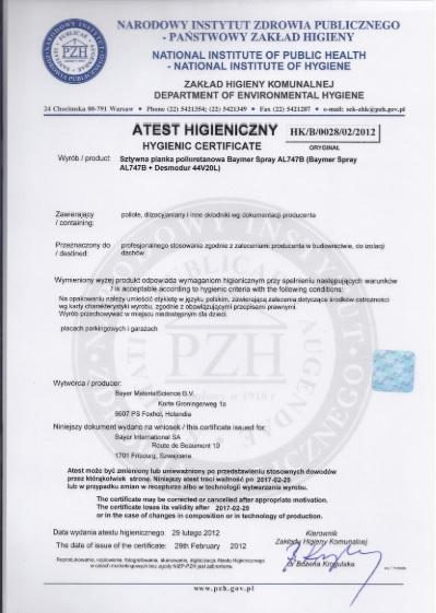 Atest hig BS747B